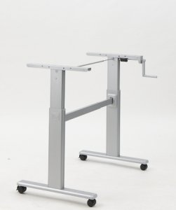 Manually adjustable standing desk